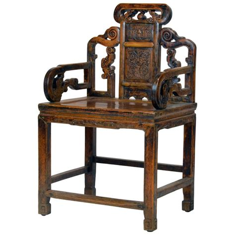 chinese armchair sculptural 19th century chinese qing dynasty style richly