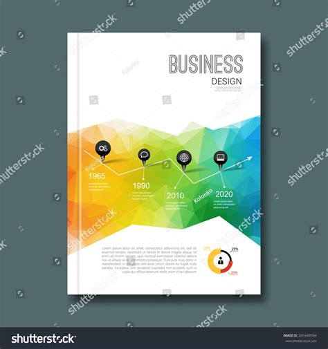 infographic book layout business design background cover book report stock vector