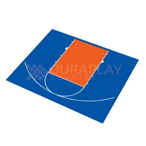 dura play duraplay 30 ft 9 in x 25 ft 8 in half court basketball kit 3h royal blue orange