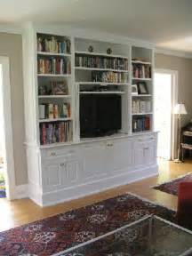 painted built in tv cabinet for the home