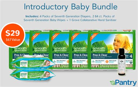 E Pantry by Epantry Introductory Baby Bundle For Just 29 A 67 Value Money Saving 174