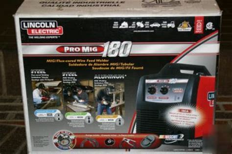 lincoln electric pro mig 180 welder display in box
