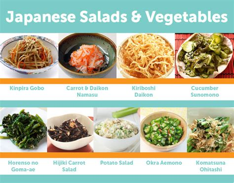 vegetables used in food 9 popular japanese salads vegetable dishes let s