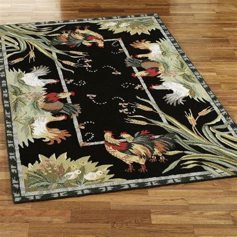 designer kitchen rugs unique rooster kitchen rugs homesfeed