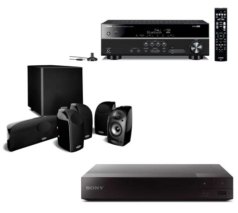 Audio Home Theater Sony polk audio tl1600 home theater system receiver combo package