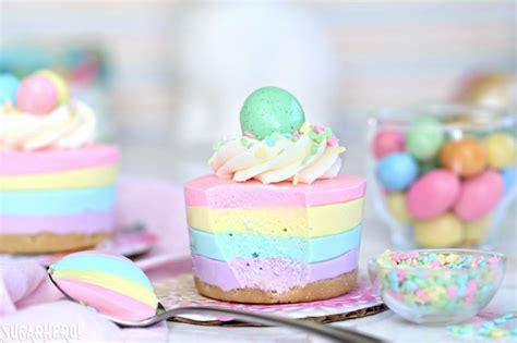 easter no bake mini cheesecakes sugarhero
