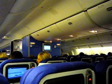 klm b777 300er cabin view during boarding