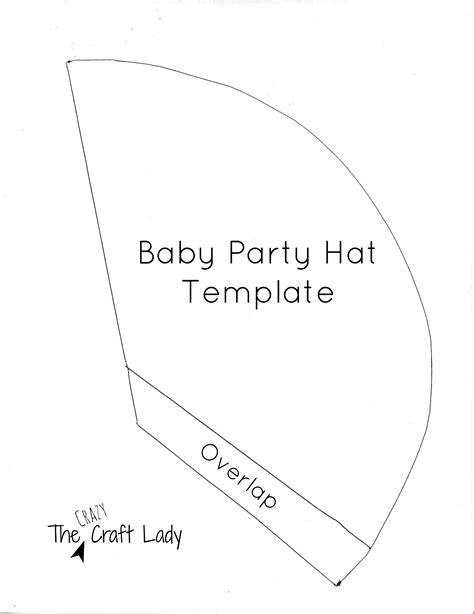 baby party hats and free printable template the crazy