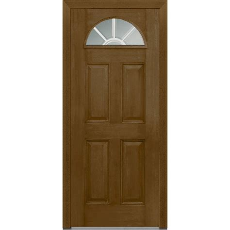 Fiberglass Exterior Doors With Glass 1 Lite Doors With Glass Fiberglass Doors Front Doors Doors The Home Depot