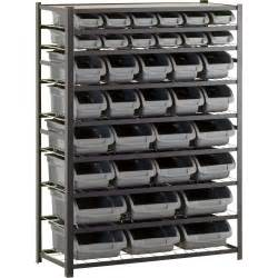 edsal single sided metal shelving unit with 36 bins 44in