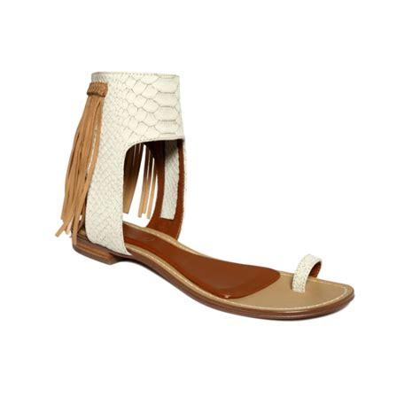 fringe sandals boutique 9 baste fringe flat sandals in white lyst