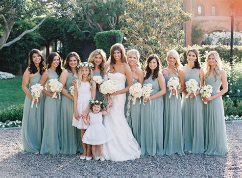 black tie secret garden wedding sage bridesmaid dresses