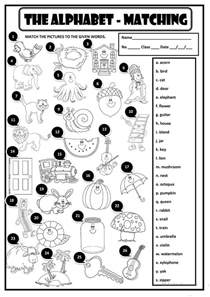 the alphabet matching worksheet free esl printable