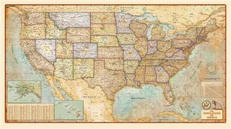 united states wall maps united states antique wall map by compart maps