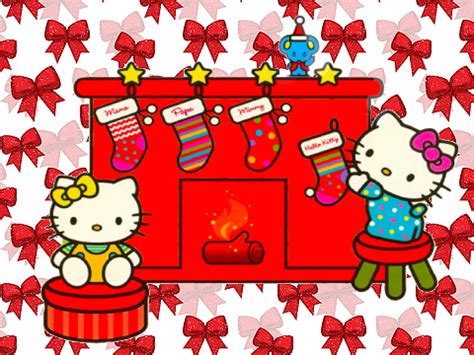 hello kitty christmas wallpaper desktop hello kitty christmas wallpaper wallpaper