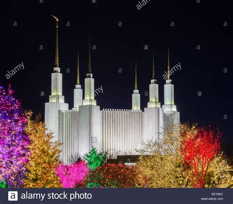 christmas lights at washington dc temple or church of