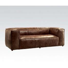 Retro Brown Leather Sofa Castee Retro Brown Leather Sofa Statement Furnishings Outlet