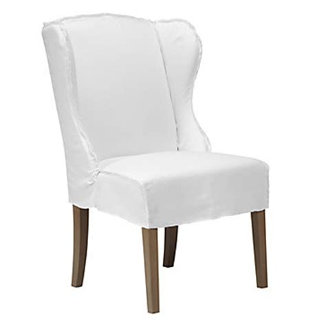 White Slipcover Dining Chair Object Moved