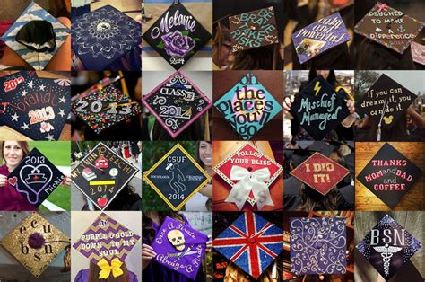 how to decorate graduation cap easy grad cap decoration ideas personal creations blog