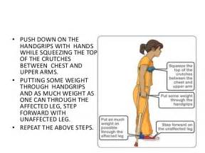 How To Walk Up Stairs On Crutches by Crutch Walking