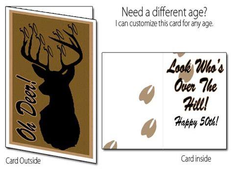 printable birthday cards etsy items similar to printable birthday card deer hunting