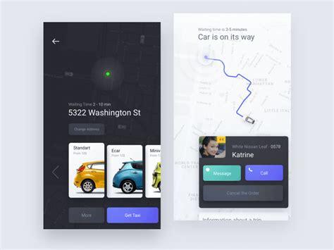 app design agency animation taxi app design by ron e dribbble