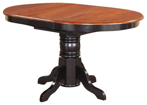 Oval Pedestal Dining Table With Leaf Kenley Oval Single Pedestal Oval Dining Table Traditional Dining Tables By Dinette4less