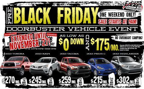 Toyota Black Friday Deals Eddy S Toyota Early Black Friday Sales Event Wichita Ks