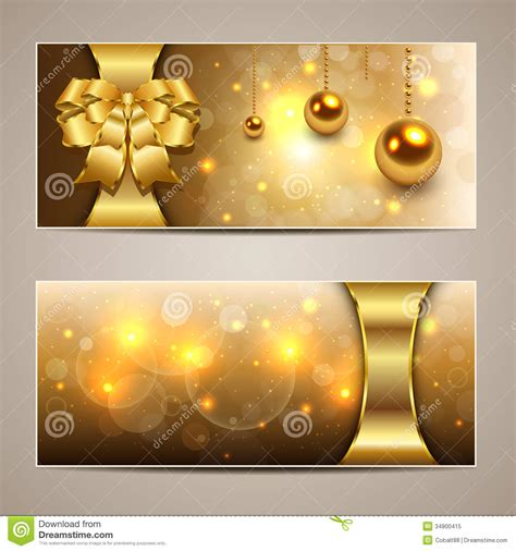 christmas banners stock vector illustration  elegant