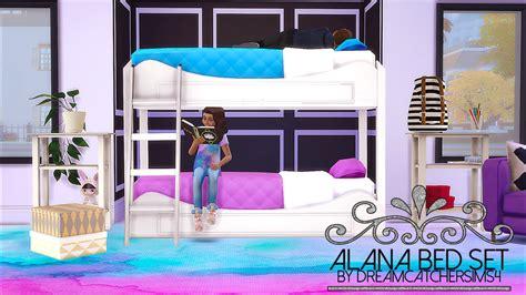 sims  blog alana bed set  dreamcatchersims