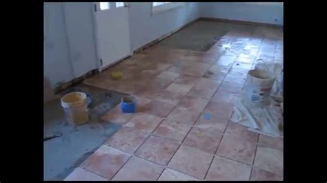 Ceramic tile basement floor   YouTube