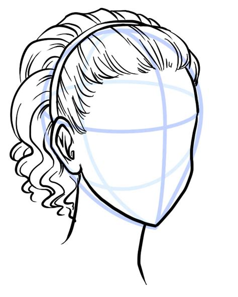 line art hair tutorial outline your hair style with a scribbley line description