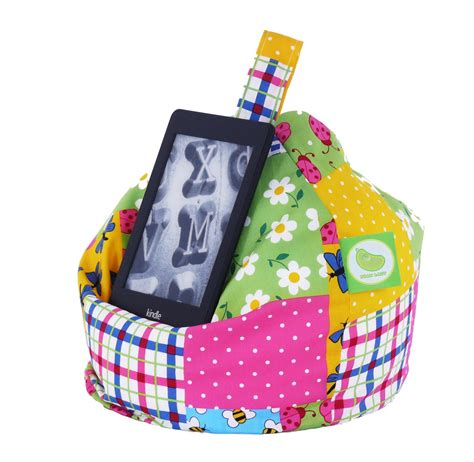 Patchwork Bean Bag - patchwork book tablet ereader mini bean bag