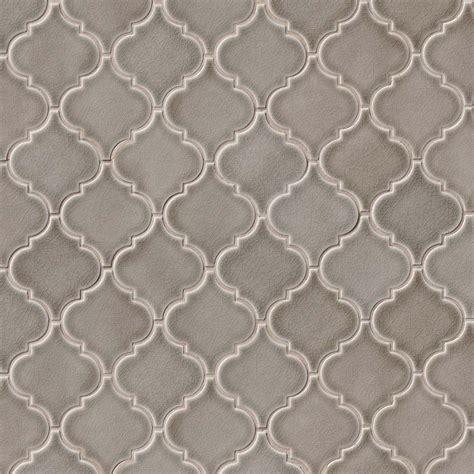 dove gray arabesque 8 mm ceramic backsplash tile