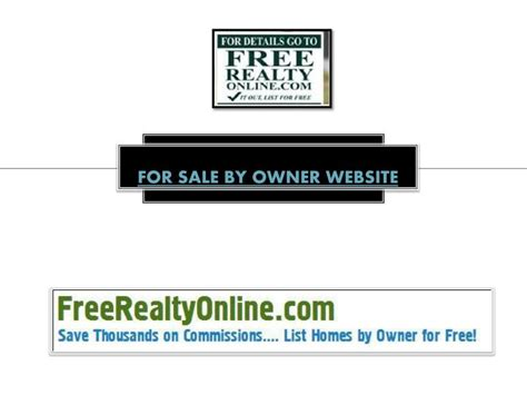 for sale by owner websites ppt for sale by owner website powerpoint presentation