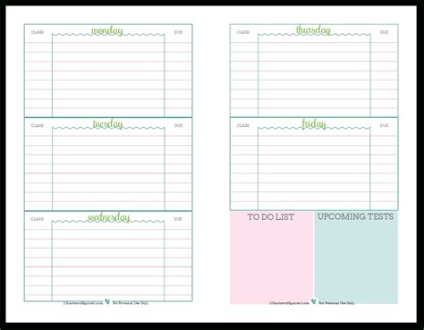 large printable weekly planner printable student planner freepsychiclovereadings com