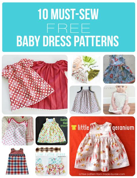 pattern sewing baby free 10 must sew free baby dress patterns sew much ado