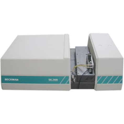 diode array uv vis spectrophotometer beckman du 7400 du7400 diode array uv vis spectrophotometer for sale price service repair