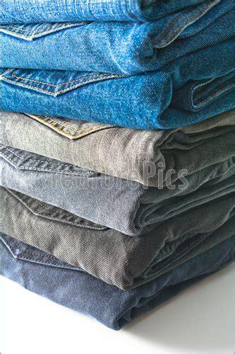 stack  folded jeans image
