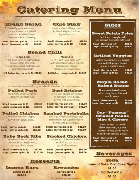 catering menus templates food truck catering menu arch dsgn