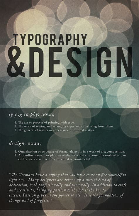 font design jobs typography design a small poster made to talk about