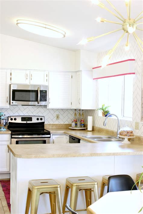 diy kitchen makeovers mallory s white kitchen makeover reveal clutter