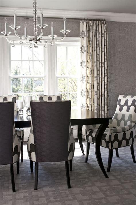 grey wallpaper dining room martin lawrence bullard fabric contemporary dining