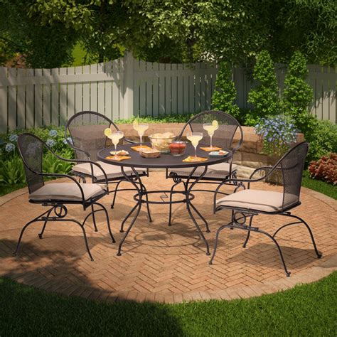 wrought iron patio dining set wrought iron patio dining