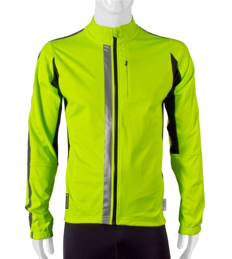 softshell cycling jacket mens atd high visibility full zip softshell cycling jacket w 3m