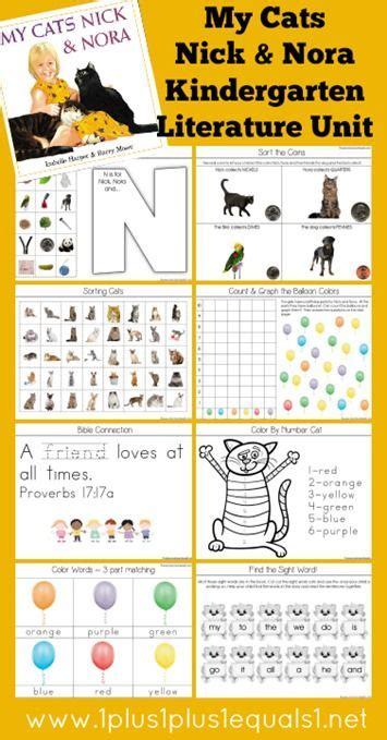 themes for literature units 15 best kindergarten literature unit ideas my cats nick