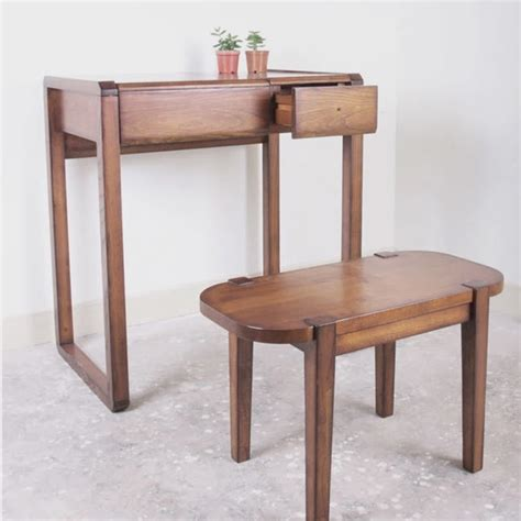 Small Vanity Desk Wood Flip Dresser Dressing Table With Stool Small Bedroom Small Apartment Vanity Mirror Desk
