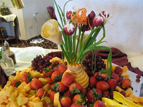 produce vegetables and fruit display photo