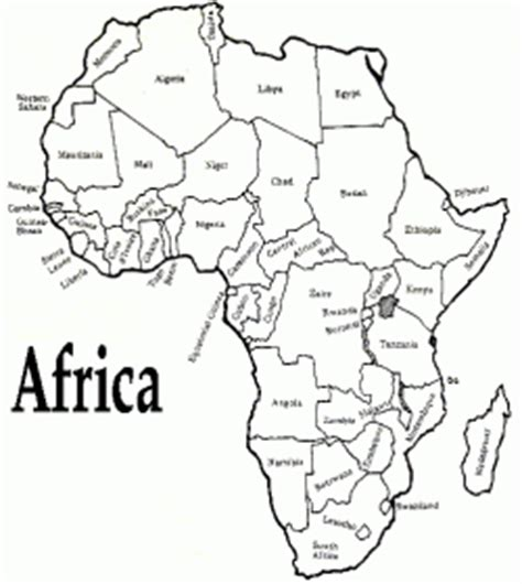 africa map easy africa the seven continents