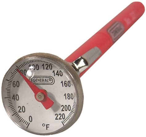 Thermometer Pocket Analog general tools 321 pocket analog thermometer with magnifying lens 0 220 deg f